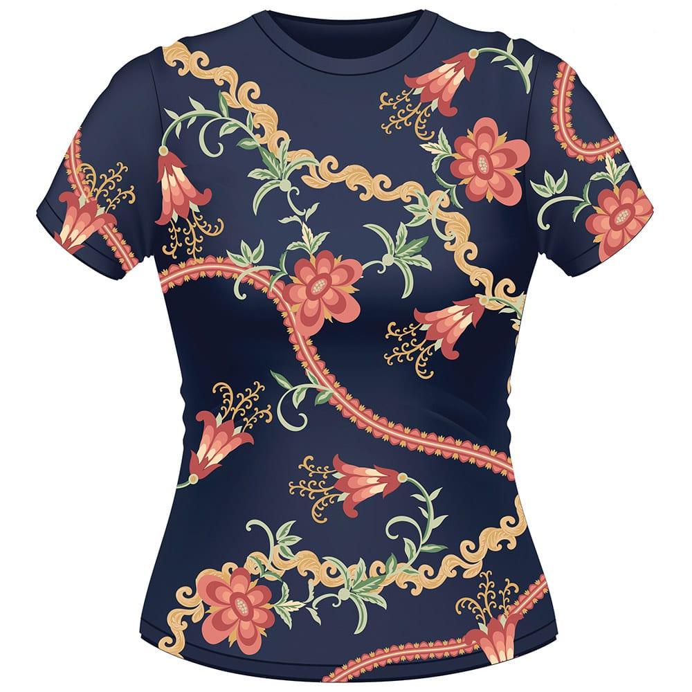 Løken T-Skjorte Blå Iris