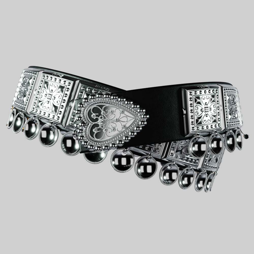 Bunadsbelte – Sølvbelte Til Bunad Sølv – Svart 4