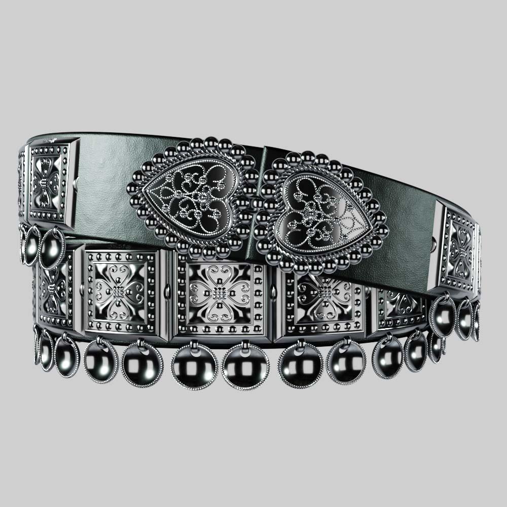 Bunadsbelte – Sølvbelte Til Bunad Sølv – Svart